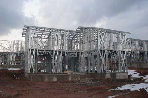 Здания на основе облегчённого металлического каркаса в Киселевске